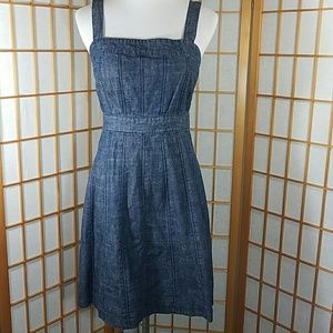 Gap fit and flare jean dress.